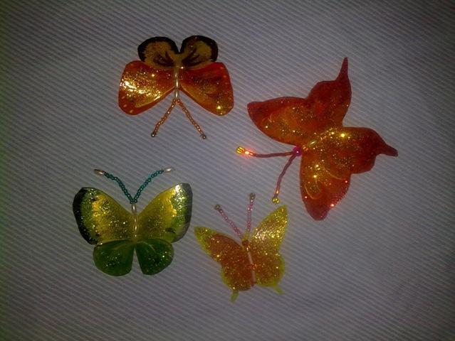 Бабочки из пластиковых бутылок своими руками - как сделать