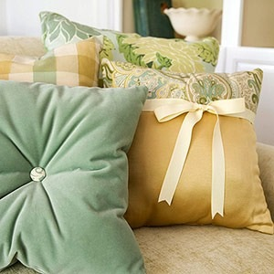 декорирование подушек своими руками фото