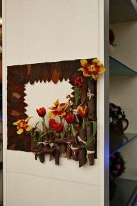 Панно «Флористика» в стиле handmade