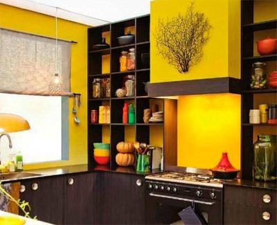 Кухня в ярких красках